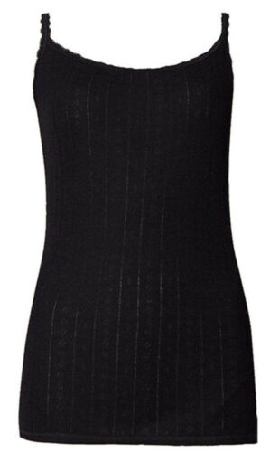 Details about  /M/&S Marks and Spencer Pointelle Thermal Ladies Camisoles Thin Strap Vest UK 6-22
