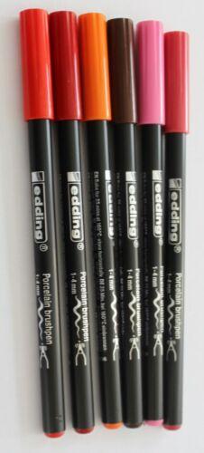 Edding Porzellan Pinselstifte 3 verschiedene Farbsets