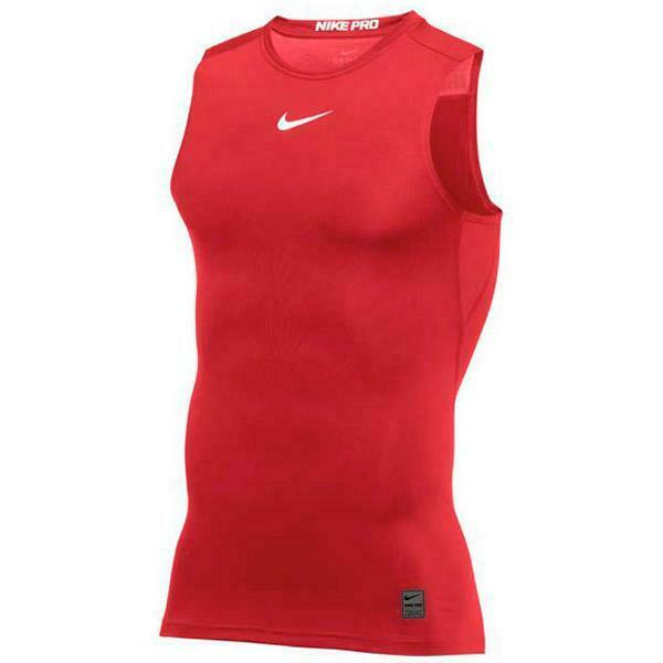 fe3c879c New Nike Men's L Pro Cool Sleeveless Compression Top Dri-Fit Training Red  908084