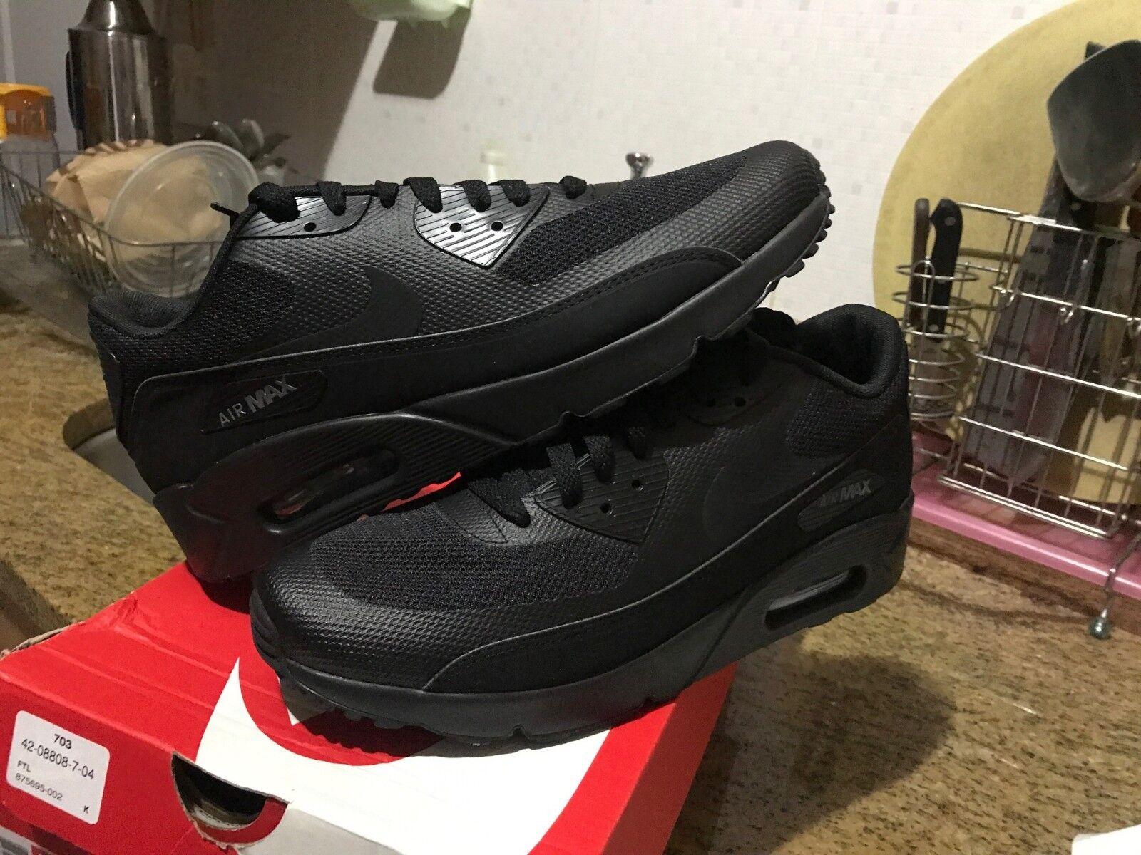 Nike Dark Air Max 90 Ultra 2.0 Essential Black Noir Dark Nike Grey 875695 002 Men 319c7a