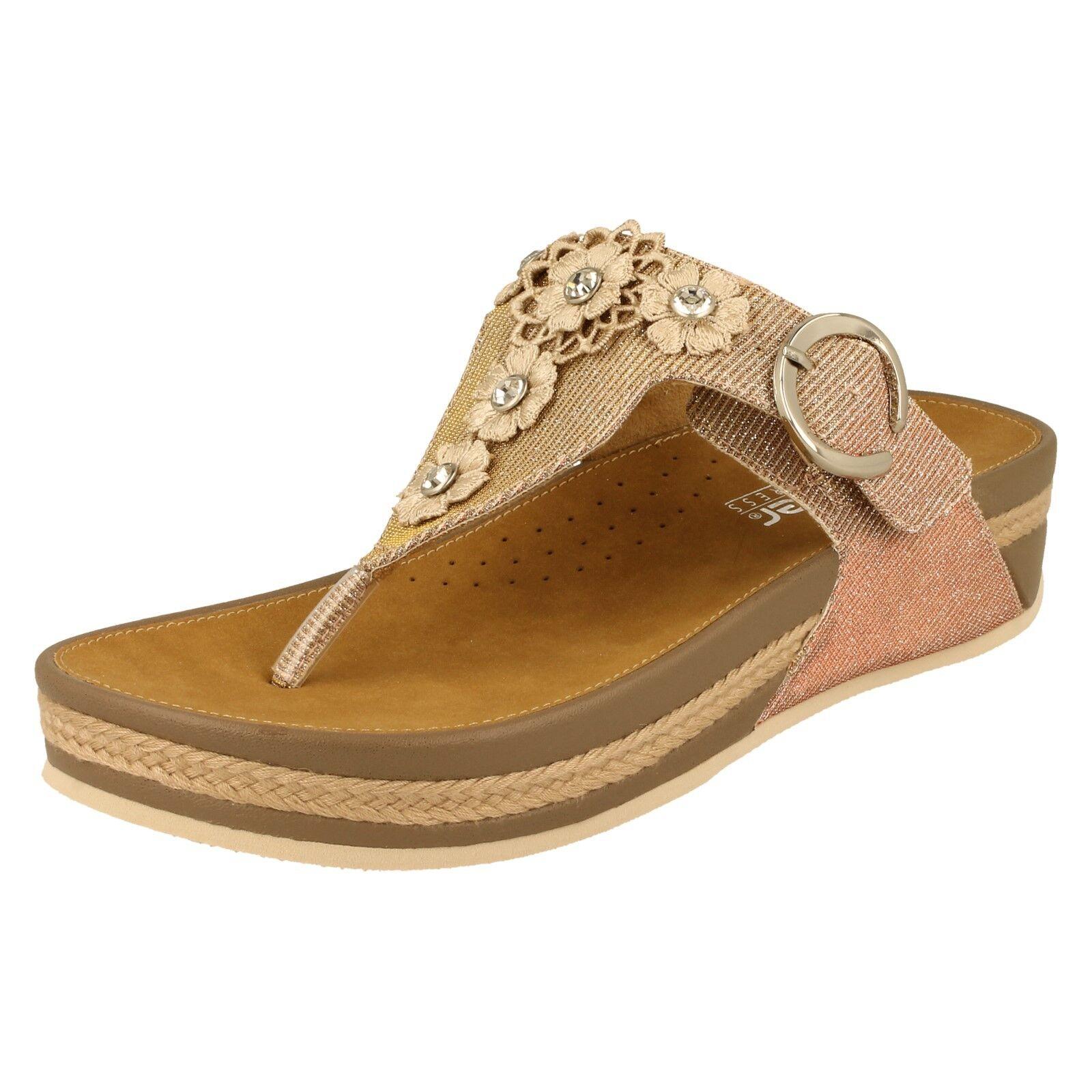 Femmes rieker toe post sandals-V1451
