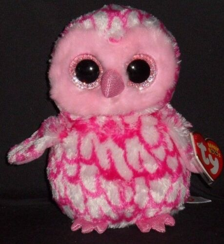 PINKY the OWL TY BEANIE BOOS MINT with MINT TAGS