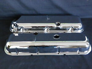VALVE-COVERS-CHROME-STEEL-OEM-STYLE-BIG-BLOCK-CHEV-65-72