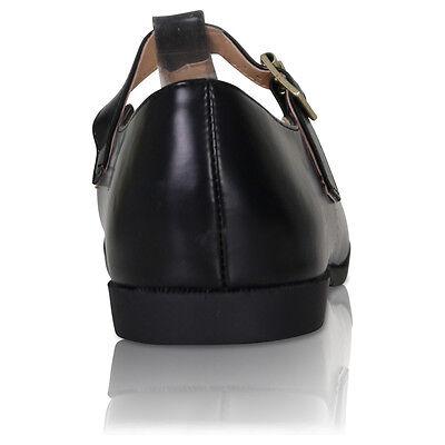 Nuevo para mujer de corte señoras FRIKI barra en T de niñas Oficina Escuela Bombas Zapatos Talla 38