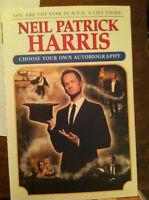 Neil Patrick Harris Choose Your Own Autobiography Book Signed . Autographed Nph
