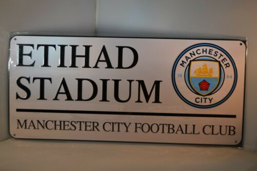 Man City Football Club Etihad Stadium Metal Street Sign MCFC Sports Memorabilia