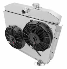 """2 x 10"""" Fan and Shroud Combo Only (No radiator) For 55-57 Chevy with V8 mounting"""