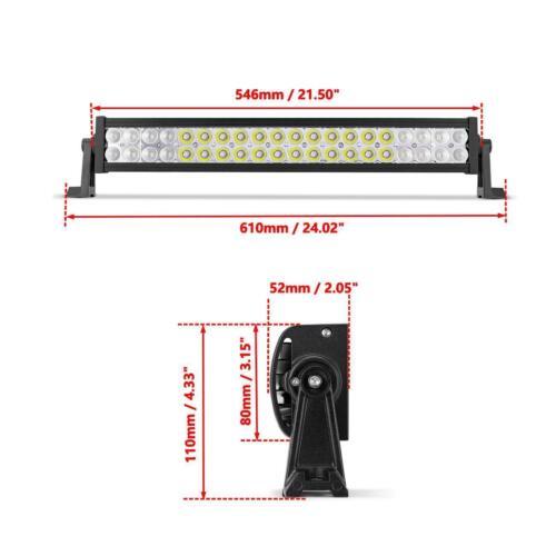 "22/"" 280W Dual Row LED Light Bar Combo Beam For Polaris Sportsman RZR Ranger ATV"