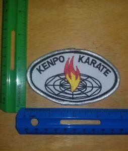 Kenpo Flame Patch Karate Kenpo KungFu Judo Jui-Jitsu Tae Kwon Do MMA