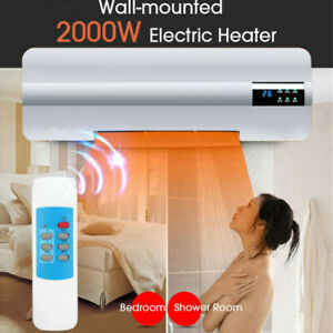 220V-2-in-1-Wall-Mount-Air-Conditioner-Fan-Heater-Cool-amp-Warm-Remote-Control-NEW