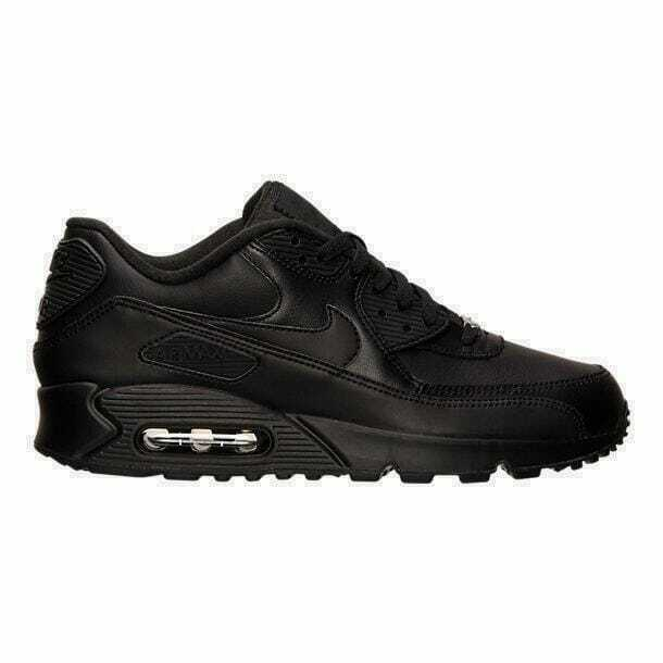 Men's Nike Air Max 90 Leather Running shoes Black 302519 001