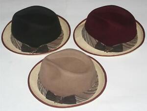 3d67099f34e51 DORFMAN PACIFIC CARLOS SANTANA Wool Toyo Braid Two Tone Tan Brown S ...