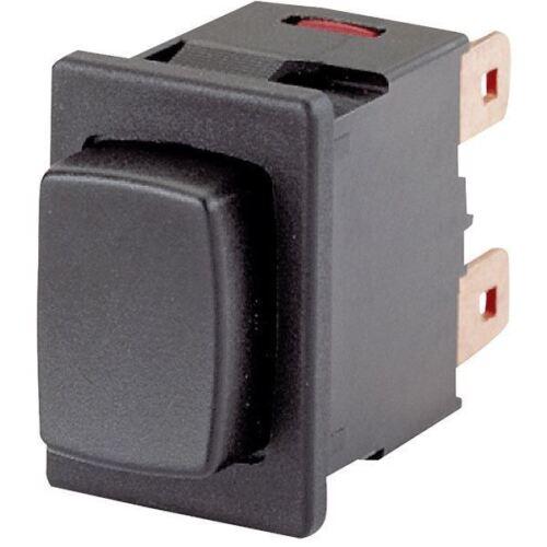 Marquardt 1683.1101 16 A 250 V AC IP40 Pulsador SPST On-Off negro faston