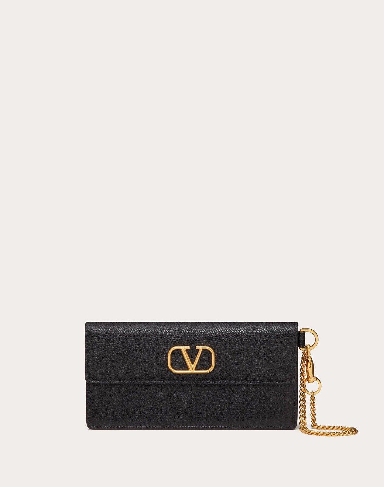 New In Box Valentino Garavani VLOGO Bill Pouch Wallet