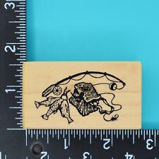 hippo hippopotamus Rubber Stamp H6905 Wood mounted