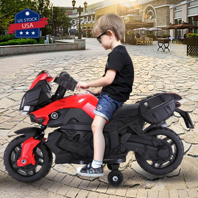 Kids Ride On Motorcycle 6v Toy Battery Powered Electric 3 Wheel Power Bicyle Red For Sale Online Ebay
