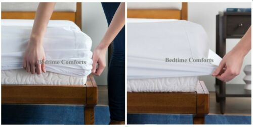 200TC PILLOWCASE COT BED // TRAVEL COT FITTED SHEET OVER 20 COLOURS
