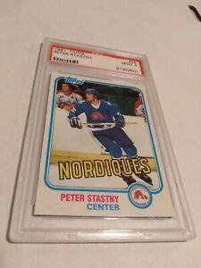 1981 Topps Hockey #39 Peter Stastny RC HOF PSA 9 Mint