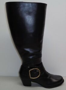 1995af9a2f3 Walking Cradles Size 5 M EXTRA WIDE CALF CLARITY Black Boots New ...