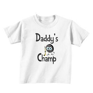 Daddy's Champ Hockey Baby Toddler Kid T-shirt Tee - 6mo Thru 7t