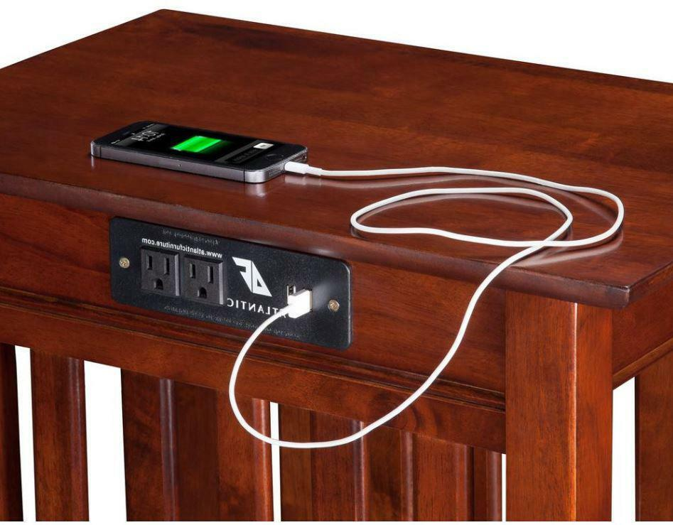 """Black Mission Style End Table 20/"""" wide x 13/"""" deep x 26/""""high by-syracusetvrisers"""
