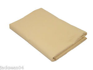 SINGLE BED LINEN LATTE BEIGE QUALITY 76/68 PICK COTTON FITTED SHEET