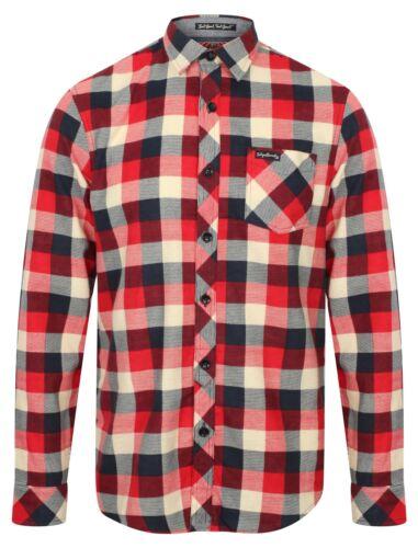 Mens Tokyo Laundry Veracruz Long Sleeve Cotton Flannel Shirt