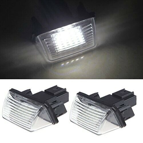 2piece Bright Led License Number Plate Light for Peugeot / Citroen