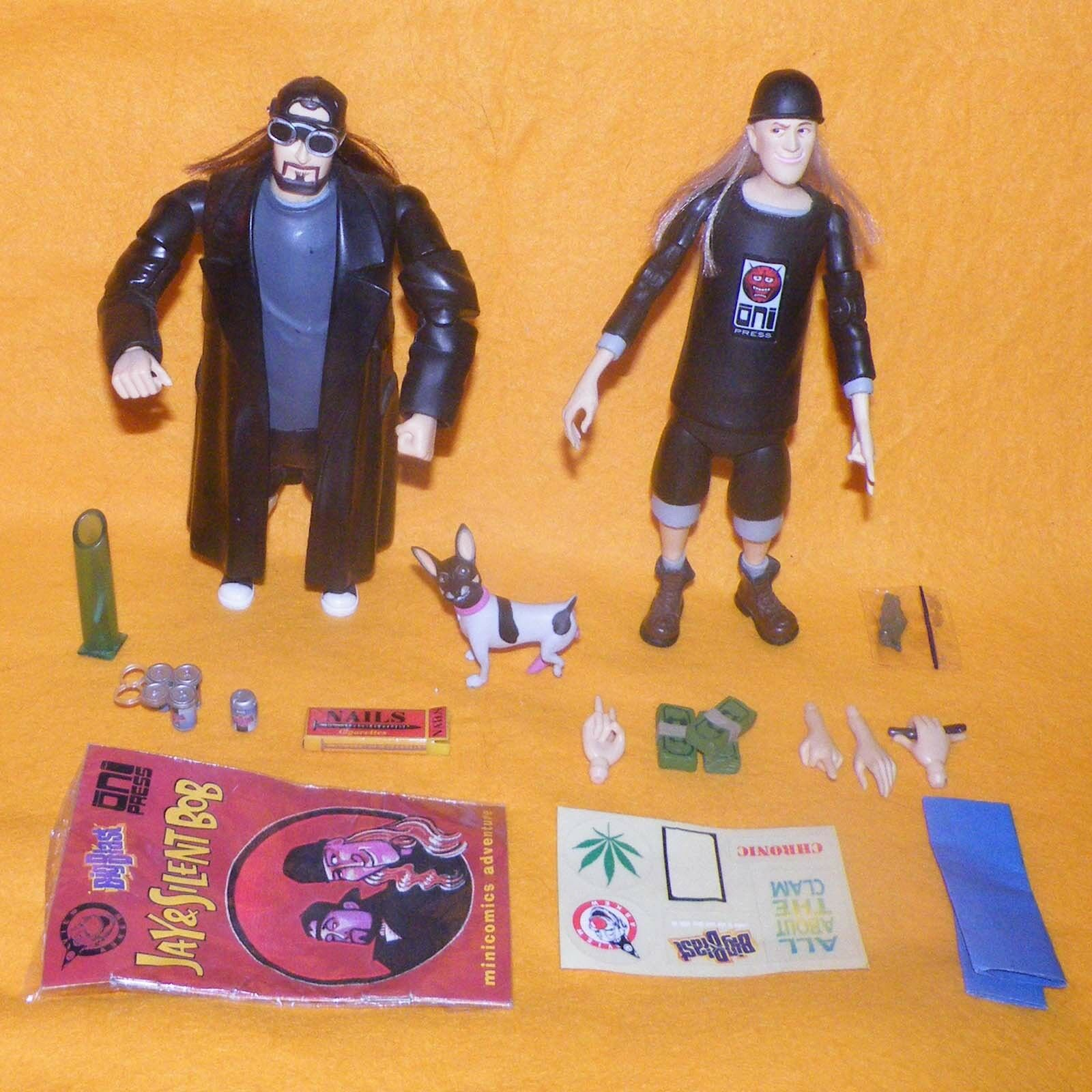 1998 VIEW ASKEW'S TALKING JAY & SILENT BOB ACTION FIGURE LOT RARE