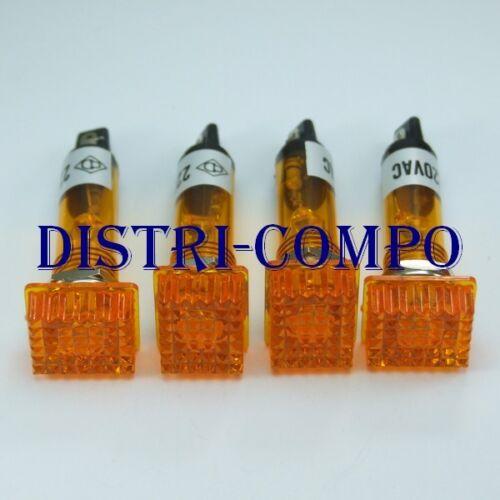 lot de 4 voyants Voyant rectangulaire 14.76x11.92mm 220VAC orange