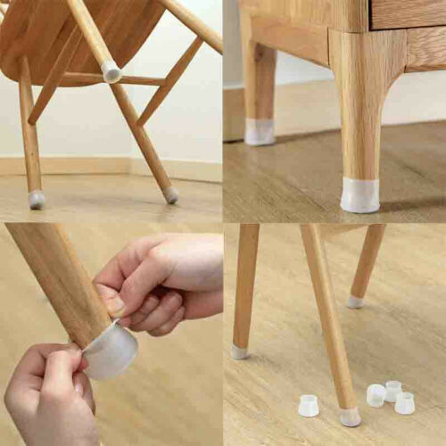 4//8//16pcs Silicone Furniture Chair Feet Table Leg Cap Floor Protection Cover #Yo