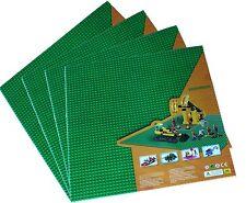 "1 genuine Lego + 4x Green Generic 15""x15"" Baseplate or 50x50 peg Base plates"