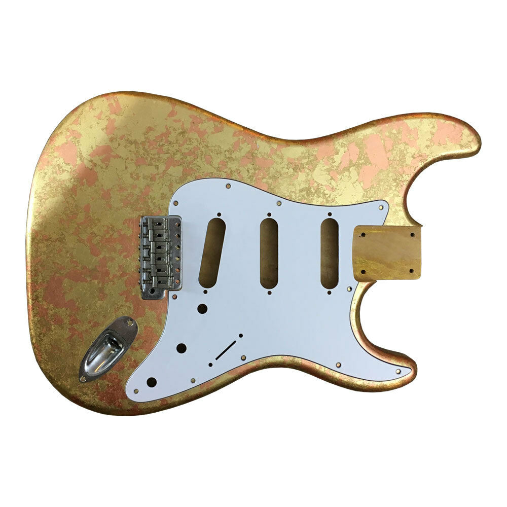 Fran n Guitars BODY Mercury METALLIC LEAF texture Stratocaster MADE TO ORDER