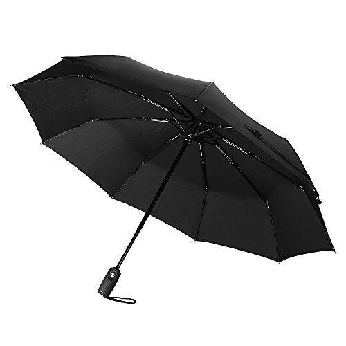 60mph A Prueba De Viento Paraguas, Topelek Negro Automático Paraguas Extra Fuerte Con Rei-ver Buena ReputacióN Sobre El Mundo