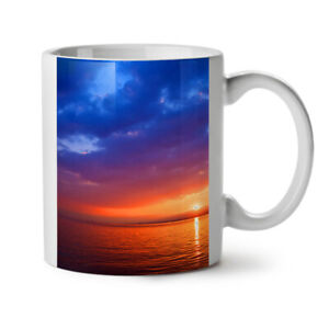 Sea Sunset Night Nature NEW White Tea Coffee Mug 11 oz | Wellcoda