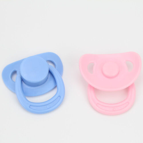 Magnetic Pacifier Dummy For Reborn Baby Doll 2 Pcs newborn Pink Blue Set hotsale