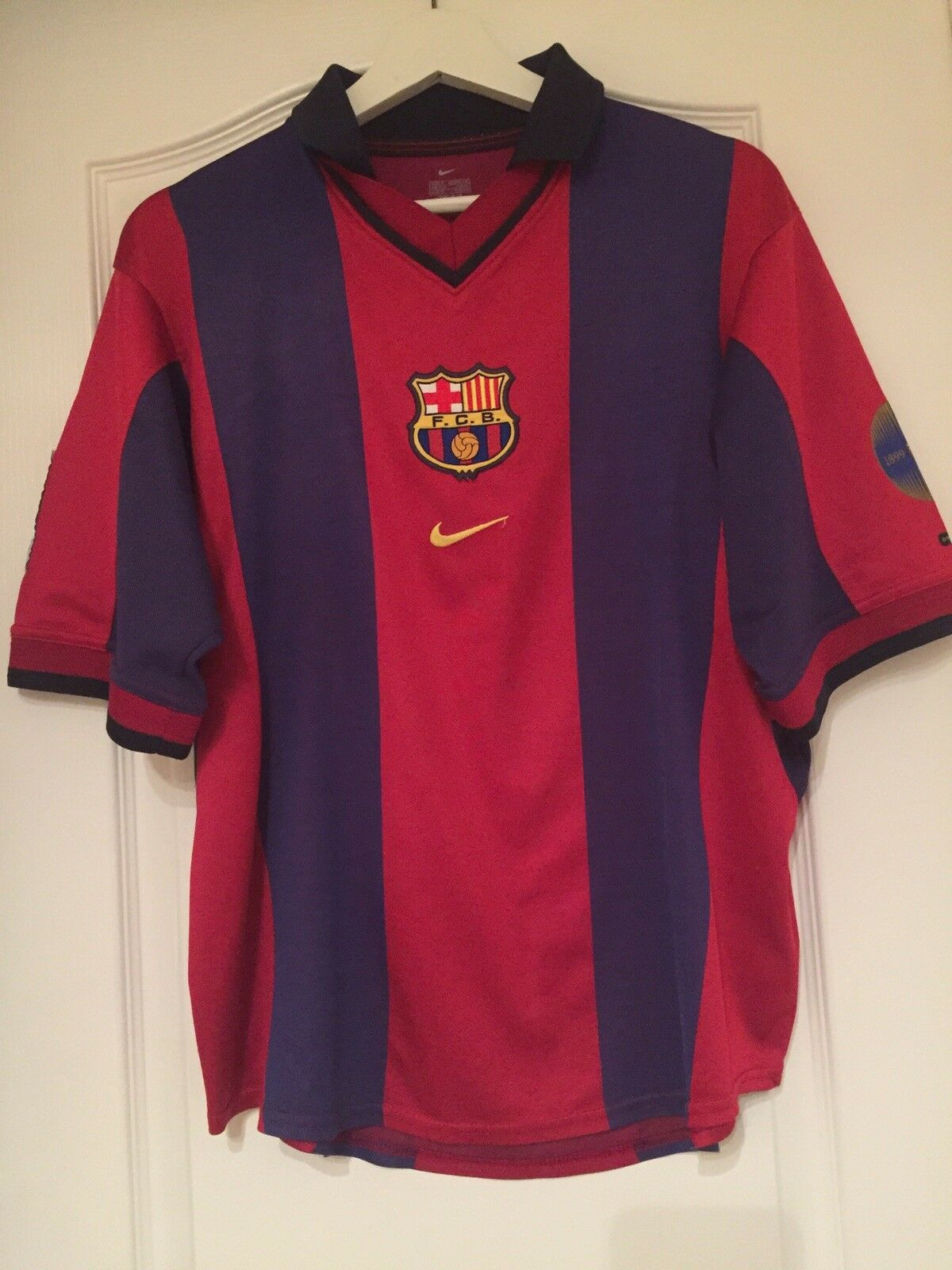 Fcb barcelona spain football vintage nike centenary 1899-1999 shirt Men's Size M