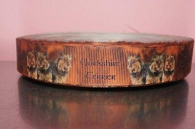 Borte 1863 Yorkshire Terrier 15mm Breite Eigenproduktion Ripsband Webband