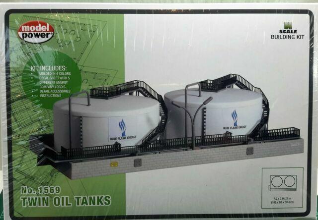N Scale Model Power /'Twin Oil Tanks/' Kit #1569