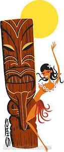 Tiki-Wahini-STICKER-Decal-Shag-Hawaiian-Hula-Art-SH102
