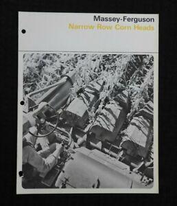 1965-Massey-Ferguson-Mf-410-510-Combinada-034-321-421-Estrecho-Fila-Maiz-Cabezas-034