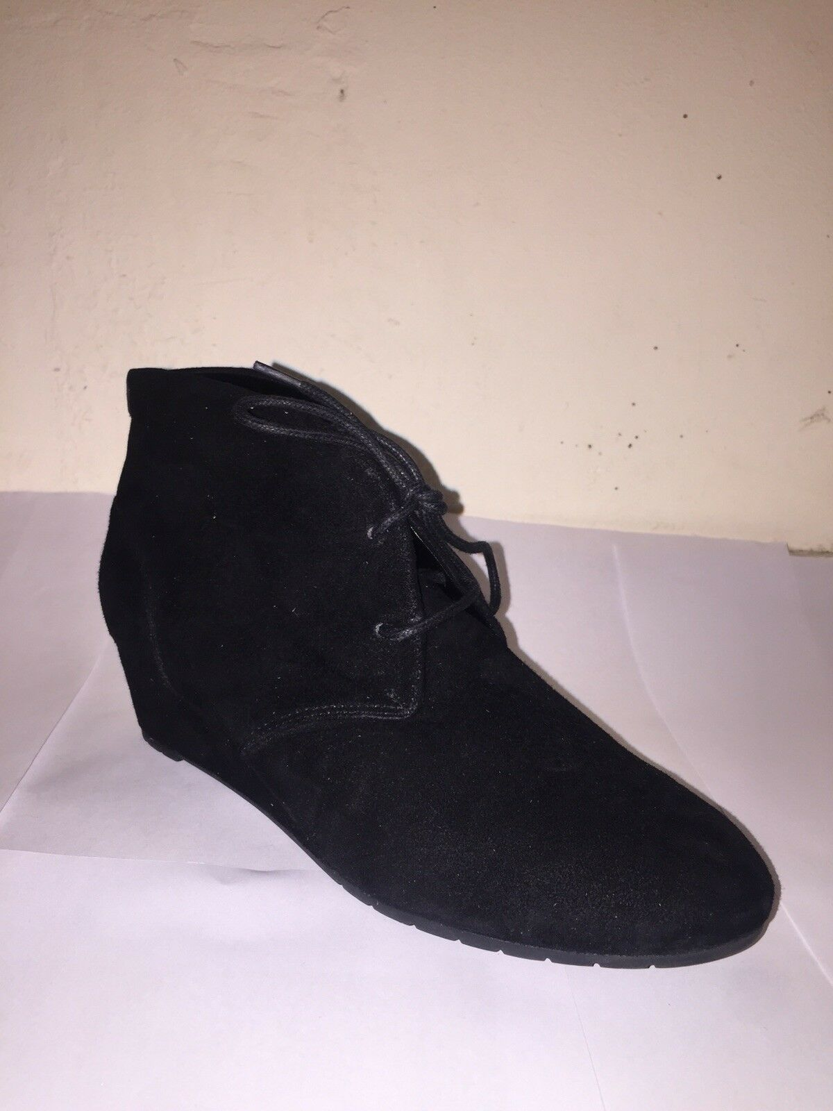 9fbcb90c NEW Clarks Vendra Peak Ladies Black Suede Ankle Boots Wedge ...