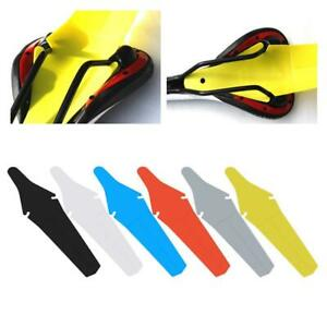 Bicycle Extended Rear Ass Fender Clip on Mudguards /& Road A6V8 Rain Saver H4I7