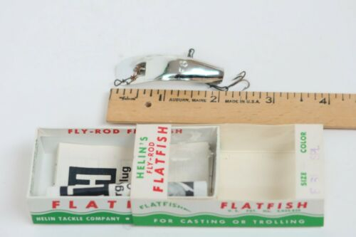 Vintage Flatfish Helin Tackle F6 SPL Great Fishing Lure Fly Rod
