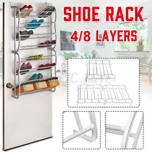 8-4-Shoe-Holder-Organiser-Over-The-Door-Hanging-Shelf-Rack-Storage-Hook