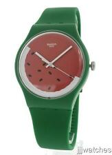 New Swatch Originals Beach Swing PASTEQUE Green Silicone Watch 41mm SUOG109 $75
