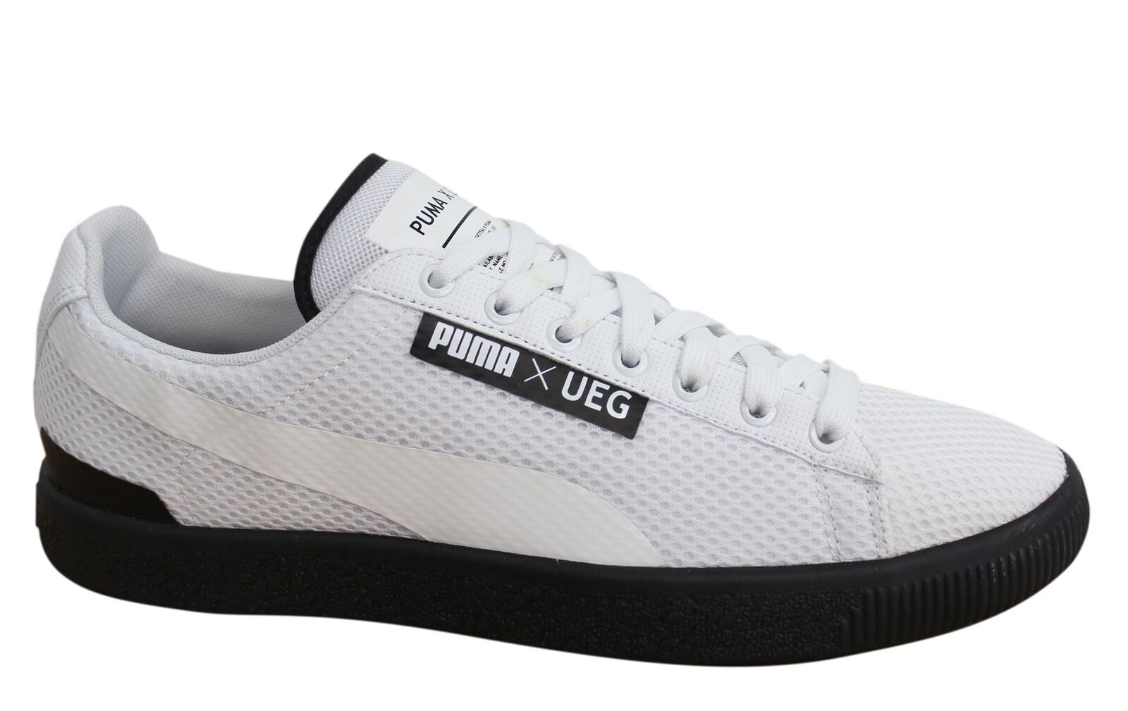Puma Court x UEG White Black Textile Synthetic Mens Trainers 361496 02 D80