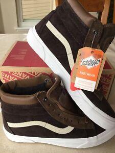 98d417fa301c5f vans sk8 hi mte dark earth brown skateboarding shoes ALL WEATHER ...