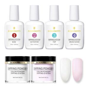 6Pcs-BORN-PRETTY-White-Dipping-Powder-System-Liquid-Nail-Art-Pro-Starter-Kit