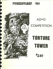 AD&D MASSCONFUSION 1984 Game module: Torture Tower, NMint condition